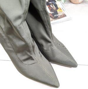 Cape Robbin Shoes - CAPE ROBBIN Olive Green High Heel Boots
